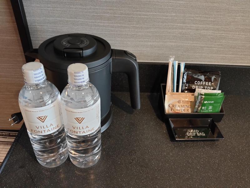水やコーヒーなどが無料「ホテルヴィラフォンテーヌグランド東京有明」
