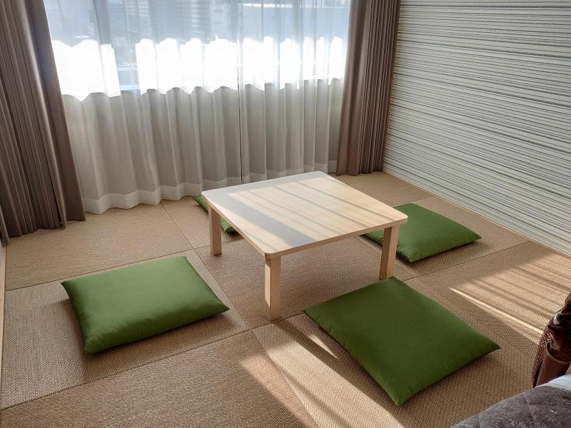 東京のホテルでは珍しい畳のある部屋