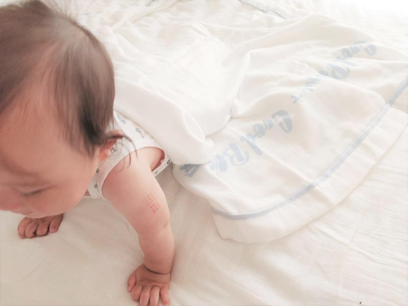 西川やわらかガーゼケット(ハーフ)赤ちゃん