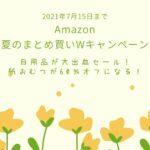 Amazon 「夏のまとめ買いWキャンペーン」